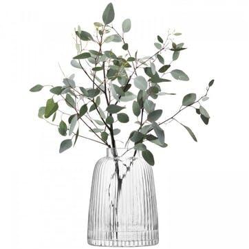 Pleat Vase - 26cm; Clear