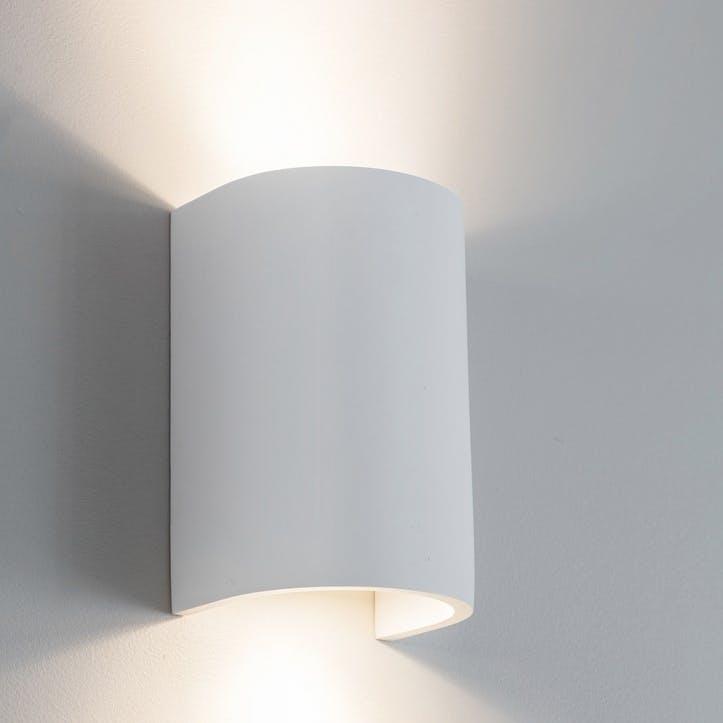Stanton Double Wall Light, Plaster