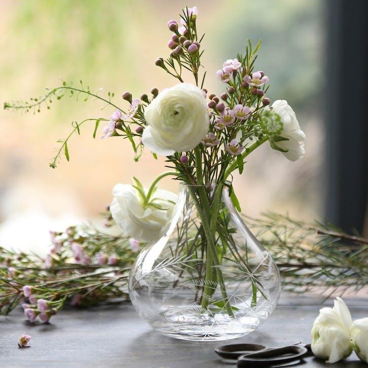 Ferns Crystal Vase