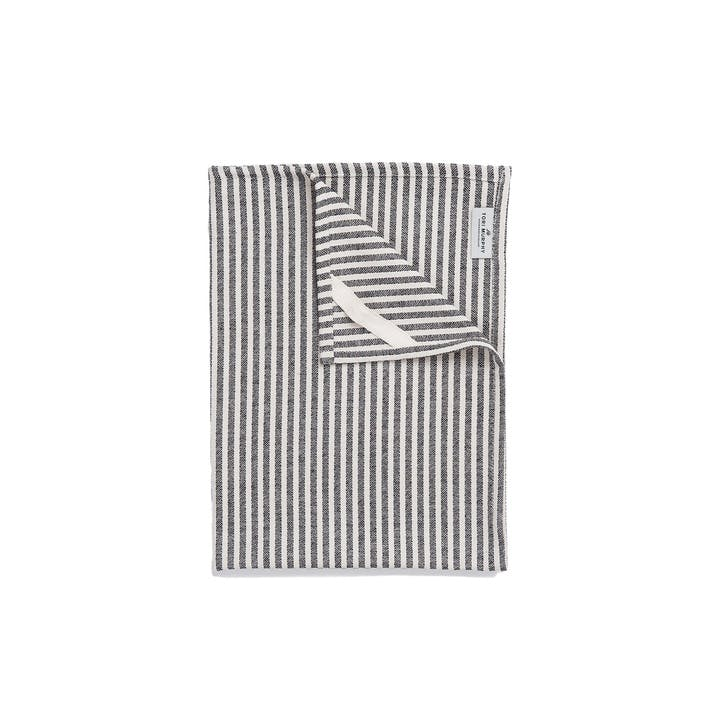 Harbour Stripe Tea Towel, Black & Ecru