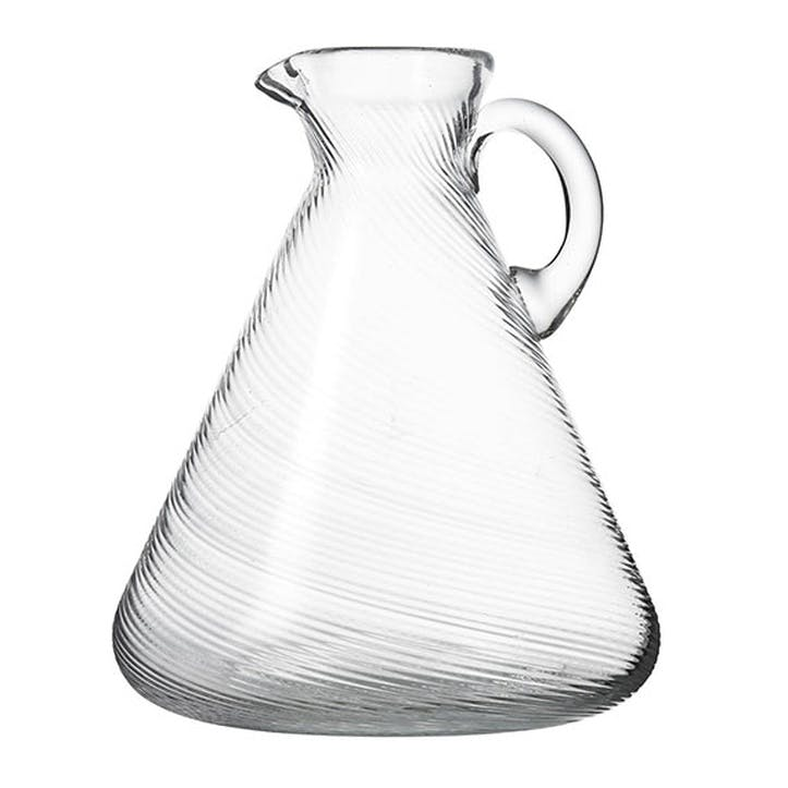 Twisted Glass Jug