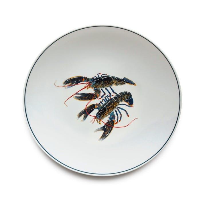 Seaflower Blue Lobster Dinner Plate, 28cm, Blue