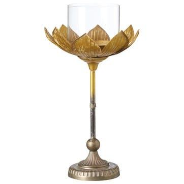 Lotus Metal Candle Holder
