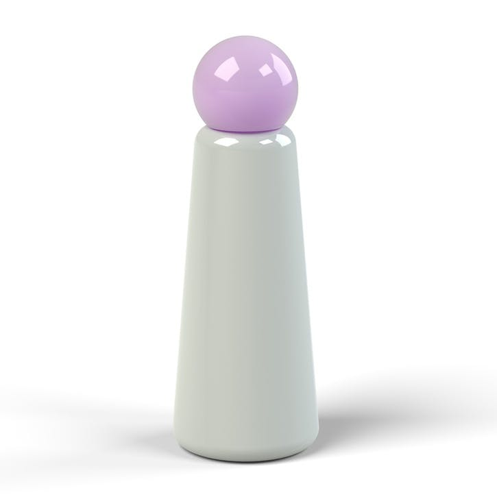 Skittle, Water Bottle, 500ml, Light Grey & Lilac