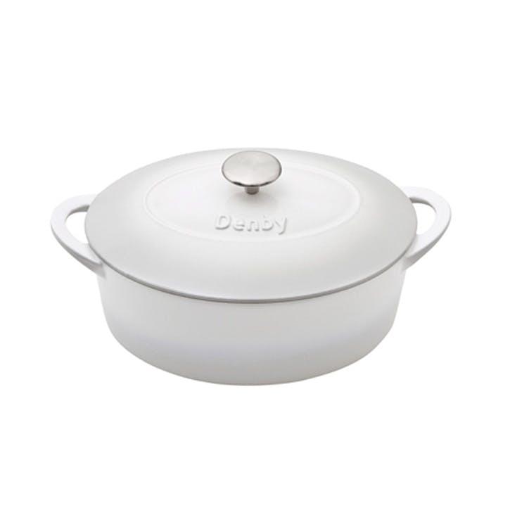 Cast Iron Natural Canvas Oval Casserole Dish, 28cm