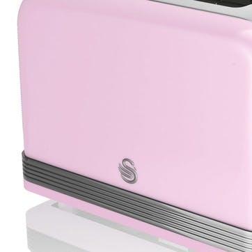 Retro 2-Slice Toaster, Pink