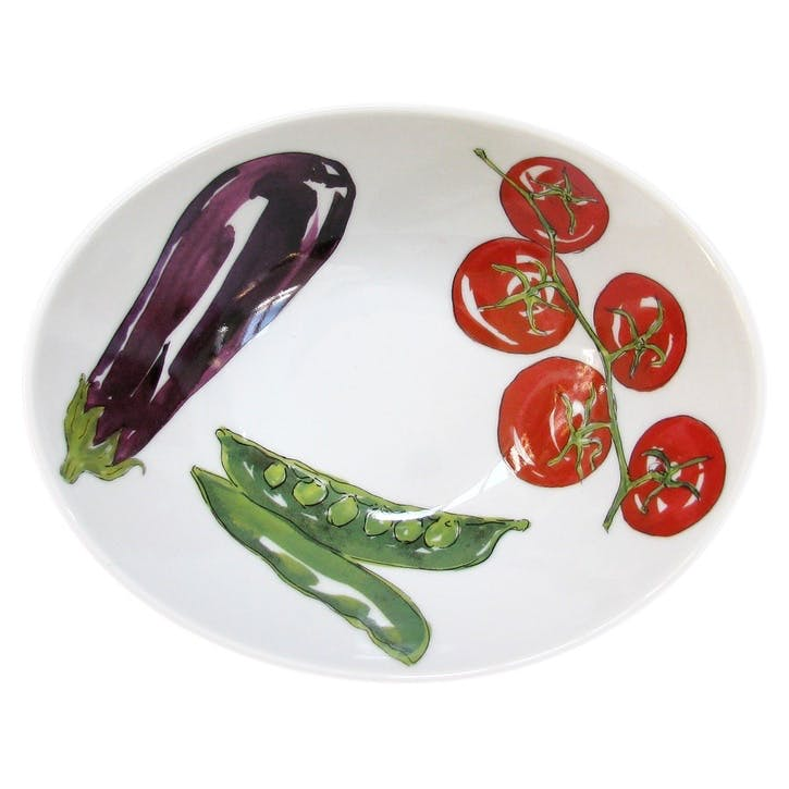 Vegetables Oval Bowl - 18cm