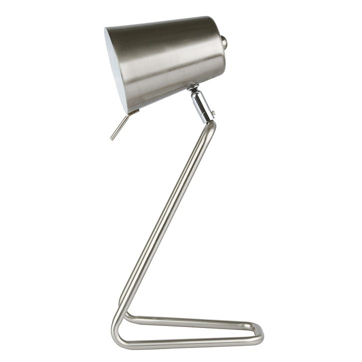 'Z' Table Lamp, Silver