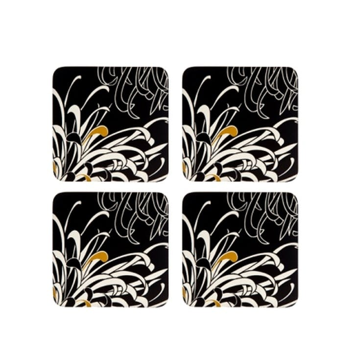 Chrysanthemum Set of 4 Coasters, 10cm