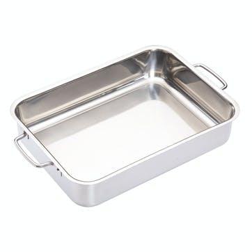 Stainless Steel Heavy Duty 32cm x 23cm Roasting Pan