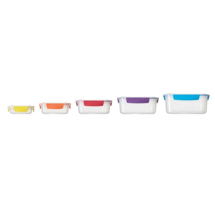 Nest Storage Box, Set of 5, Multi-Colour