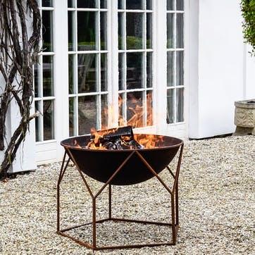 Buckingham, Outdoor Firebowl, Rust