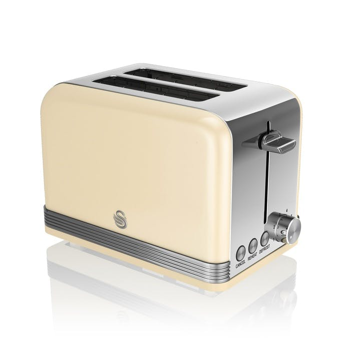 Retro 2-Slice Toaster, Cream