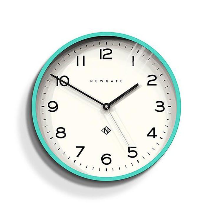 Echo - Number 3, Wall Clock, W37cm x D5cm x H37cm, Aquamarine