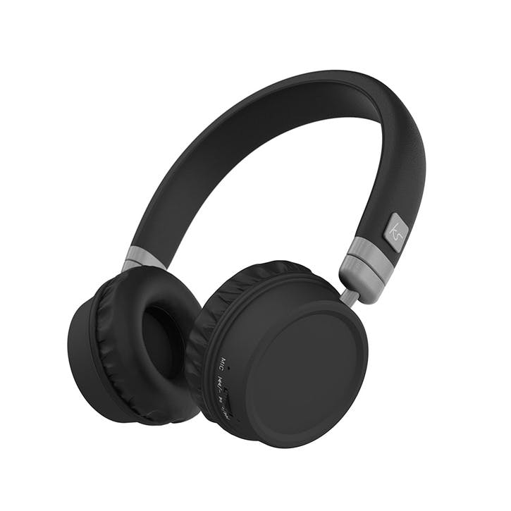 Harlem Wireless Over-Ear Headphones With Microphone; Black & Silver