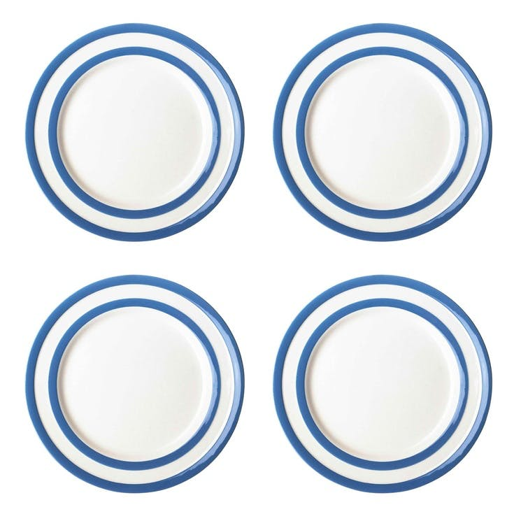 Cornish Blue Side Plates, Set of 4