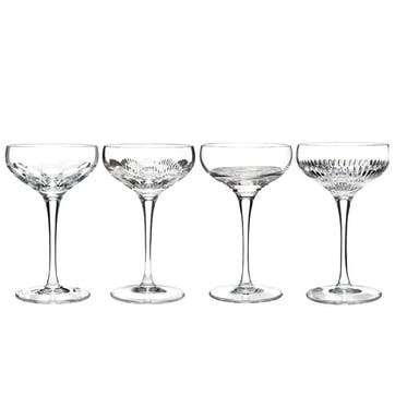 Waterford Mixology Champagne Coupe, Set of 4, Clear