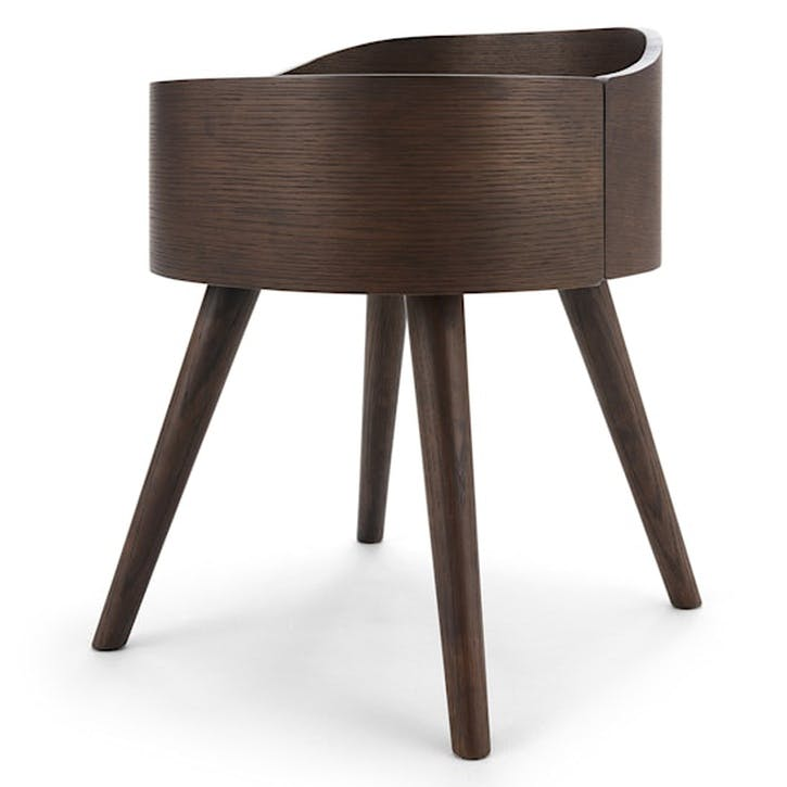 Ada Bedside Table, Dark Stain Oak