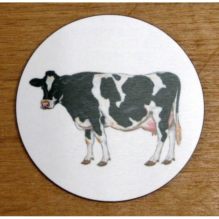 Holstein-Friesian Cow Coaster - 10cm