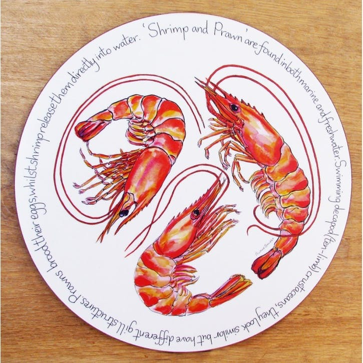 Shrimp & Prawn Tablemat - 28cm