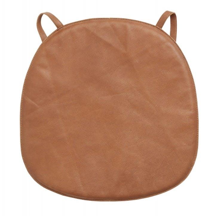 Tan Leather Seat Pad