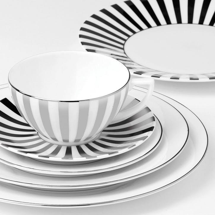Platinum Tea Cup, Striped