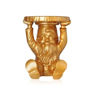 Attila, Small Gnome Stool, Gold