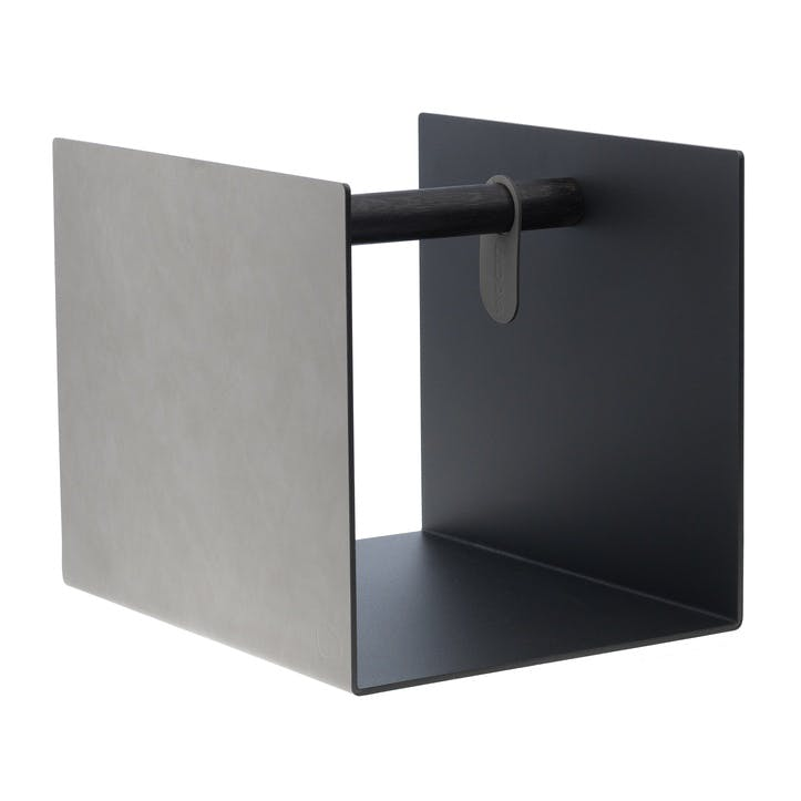 Side Table/ Storage Container, Light Grey
