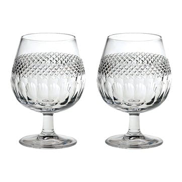 Diamonds Crystal Brandy Glasses, Set of 2
