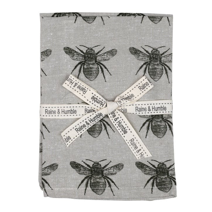 Recycled Honey Bee Napkins, Set of 4, Olive Green