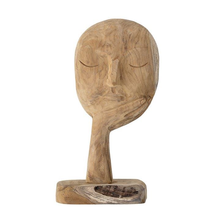 Wooden Face Sculpture