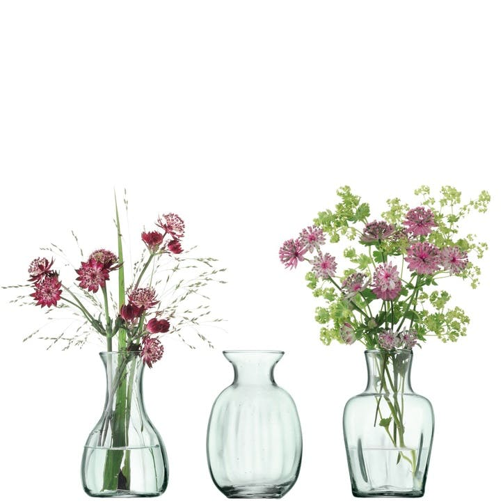 LSA Mia Recycled Mini Vase Trio