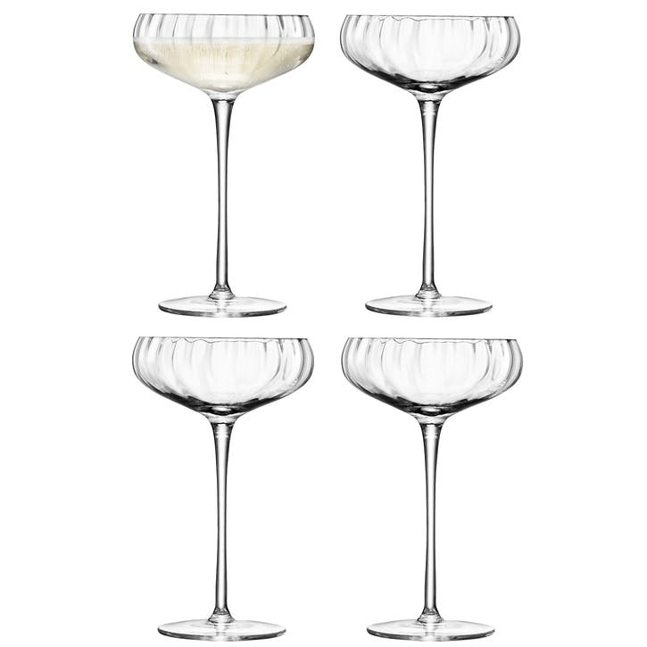 LSA  Aurelia Champagne Saucer, 300ml, Set of 4