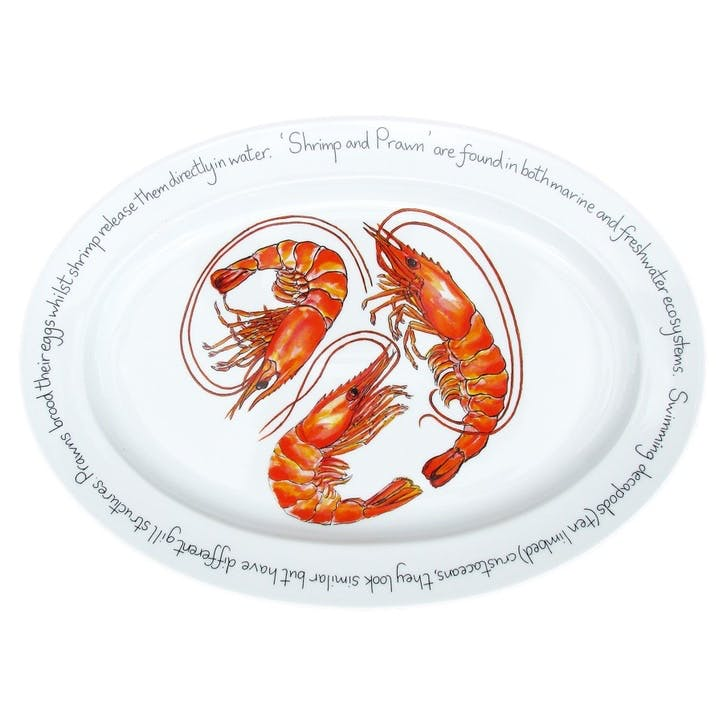 Shrimp & Prawn Oval Plate - 39cm