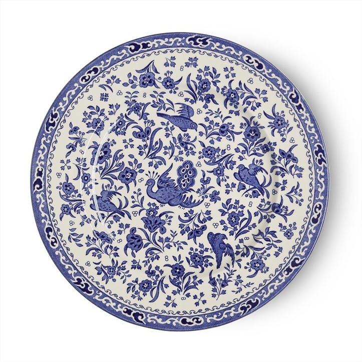 Regal Peacock Plate, 25cm, Blue