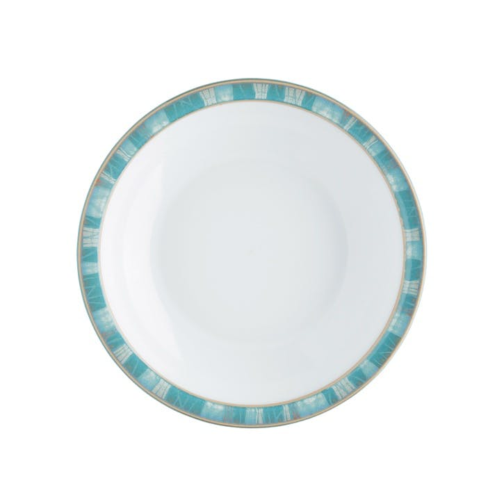 Azure Coast Shallow Rimmed Bowl, 21cm, Blue