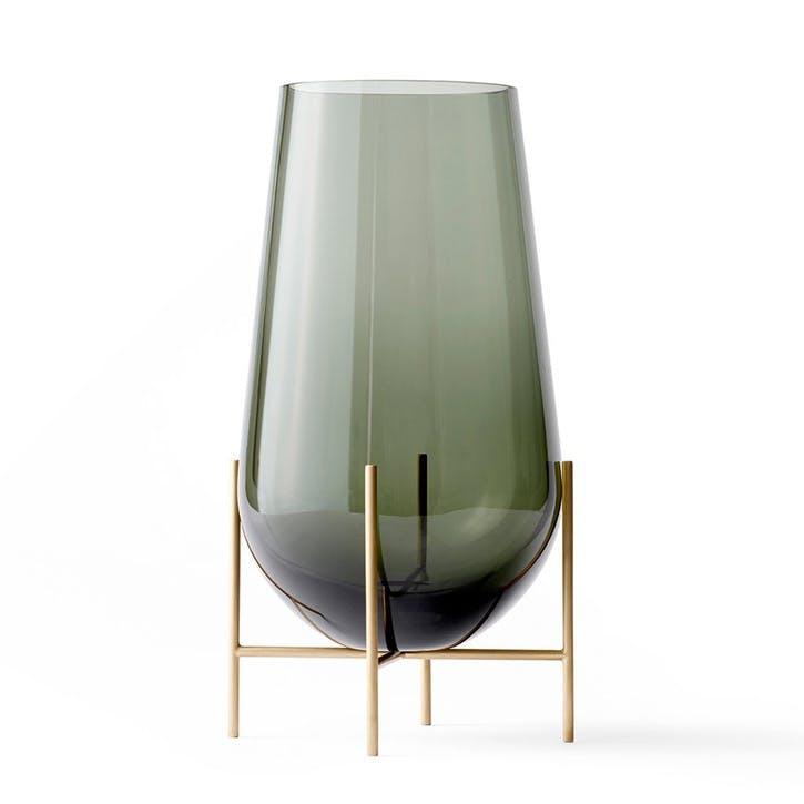 Echasse, Vase, H28 x L15cm, Smoke