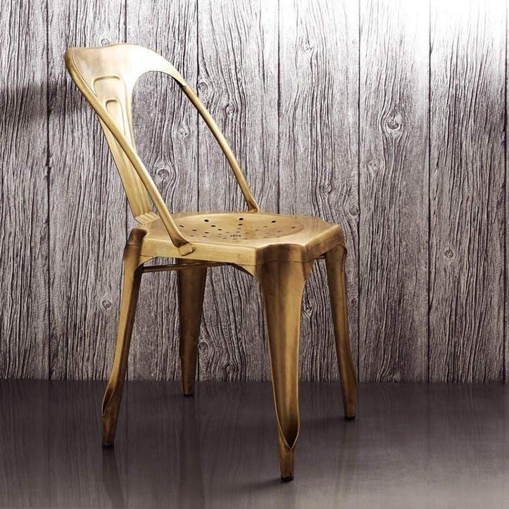 Isaac Iron Chair Brass