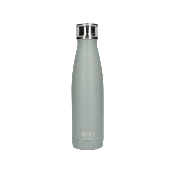 Double Walled Stainless Steel Water Bottle; Storm Grey