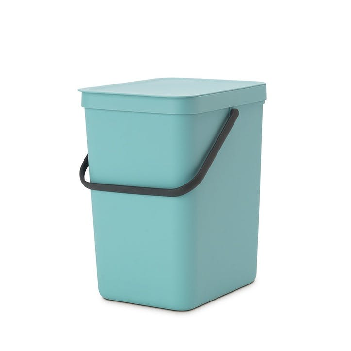 Sort & Go Waste Bin, 25 Litre, Mint
