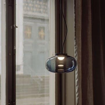 Karl-Johan, Pendant, D23cm, Smoked Glass