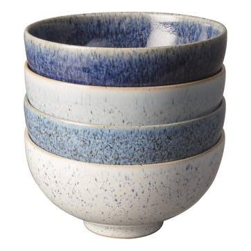 Studio Blue Set of 4 Rice Bowls