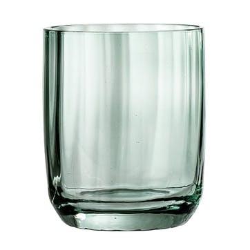 Textured Water Glass, Green