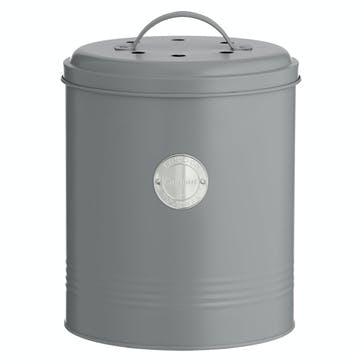 Living Compost Caddy, Grey