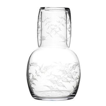 Ferns Crystal Carafe & Glass Set