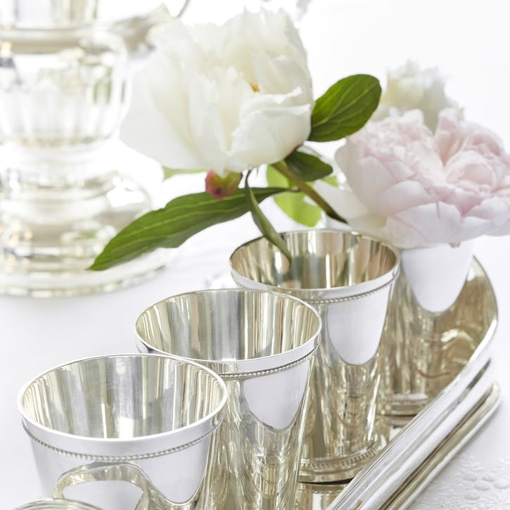 Lancaster Silver Plated Beakers, Set of 4