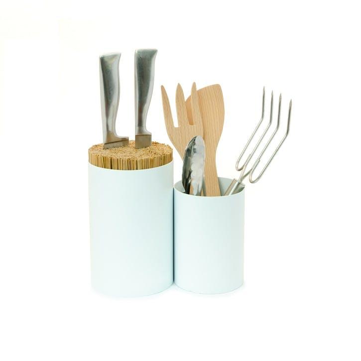 Knife & Spoon Utensils Storage, White