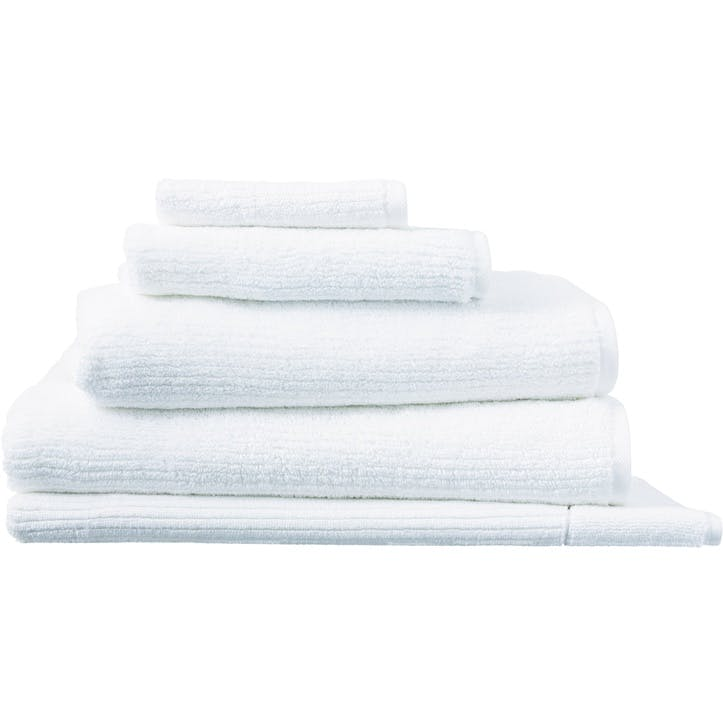 Living Textures White Bath Towel