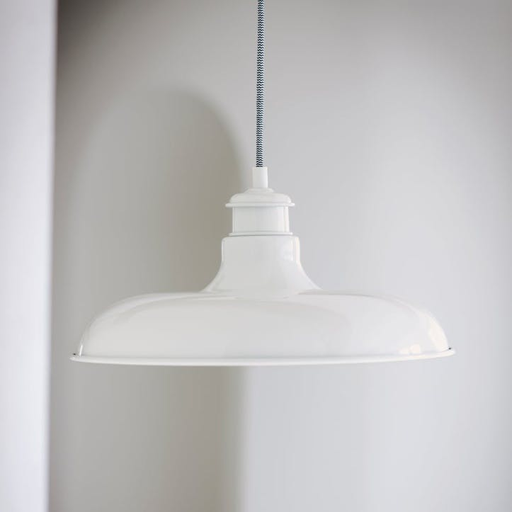 Toulon Pendant Light, Chalk