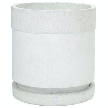 Urban Cylindrical Planter - Large; White